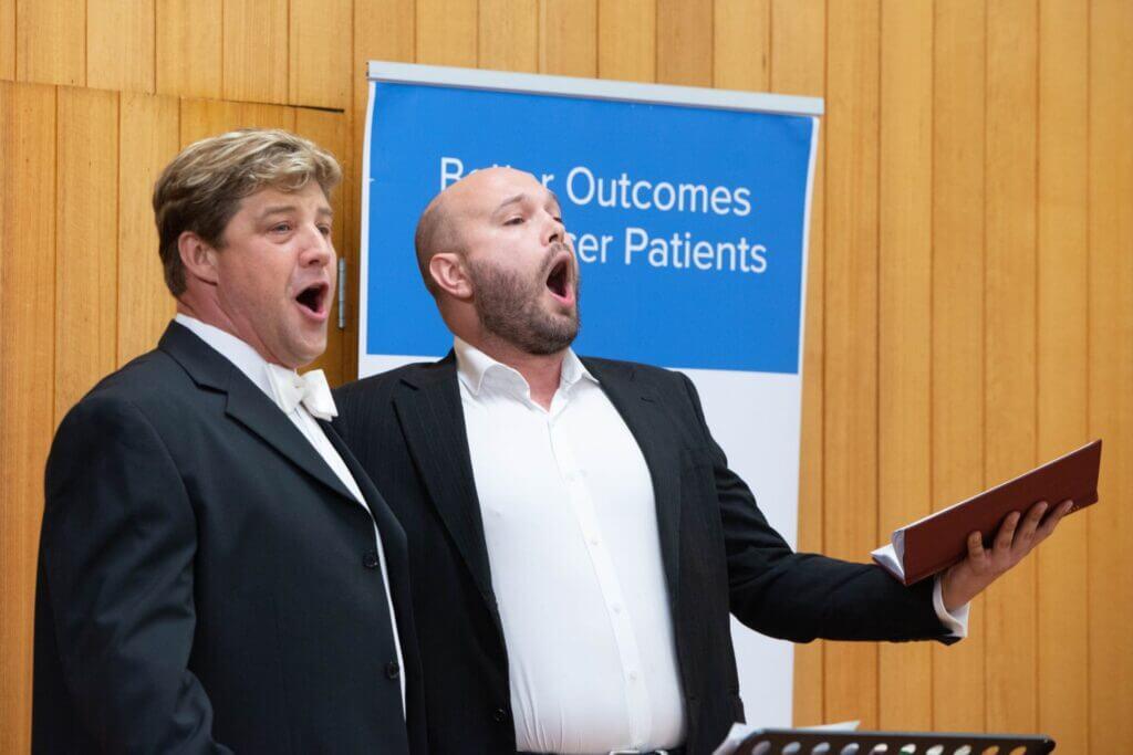 Dmitri and Alex singing together